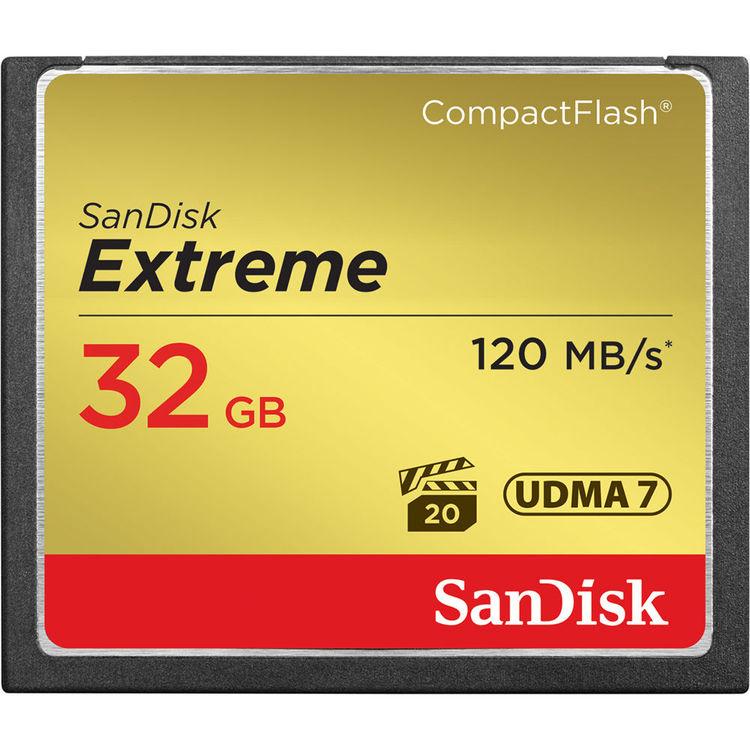 کارت حافظه Sandisk CF Extreme 32GB 800X