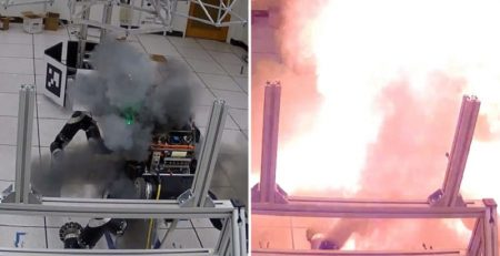 انفجار یک باتری لیتیوم یون