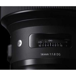 لنز Sigma 14mm f/1.8 DG HSM Art