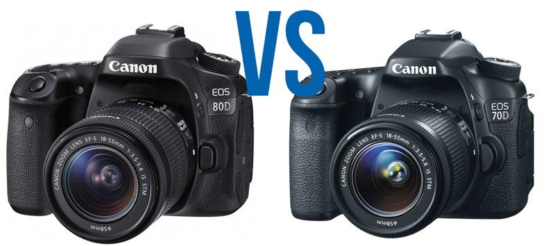 کدام را بخرم؟ Canon 70D در برابرCanon 80D