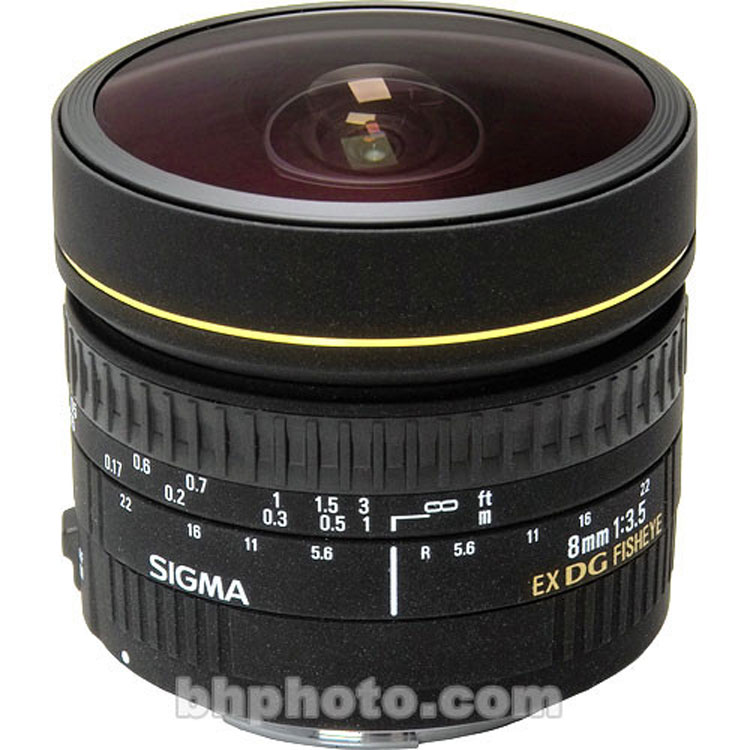لنزسیگما Sigma 8mm for Nikon F