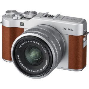 دوربین بدون اینه فوجی (Fujifilm X-A5 Mirrorless Camera 15-45mm (Brown