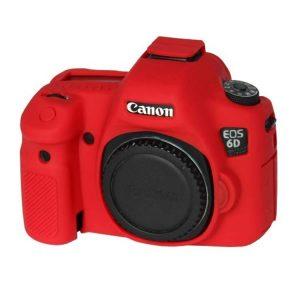 کاور سیلیکونی Canon 6D رنگ قرمز