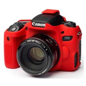 کاور سیلیکونی Canon 77D SiliconCover رنگ قرمز