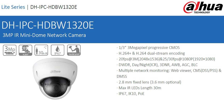 DH-IPC-HDBW1320EP-AS-0360B مشخصات فنی دوربین مداربسته داهوا مدل