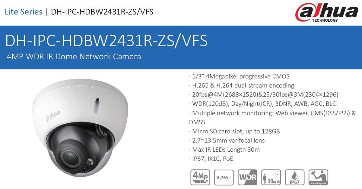 دوربین مداربسته تحت شبکه داهوا مدل HDBW2431