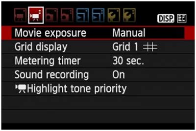 تنظیمات فیلمبرداری دوربینهای عکاسی کانن