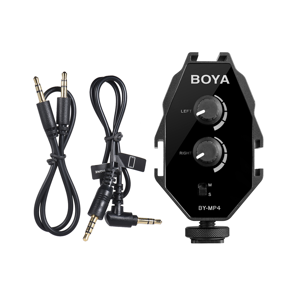 Boya Audio Adapter BY-MP4 Audio Microphone