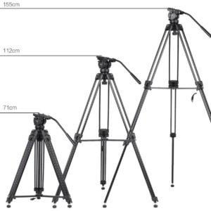 سه پایه فیلملرداری King Joy Professional Video Tripod VT-2500