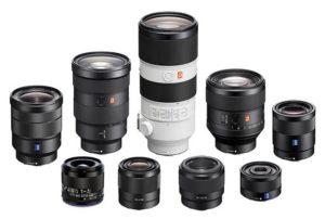 مدلهای مختلف لنز مخصوص دوربینهای بدون آینه سونی