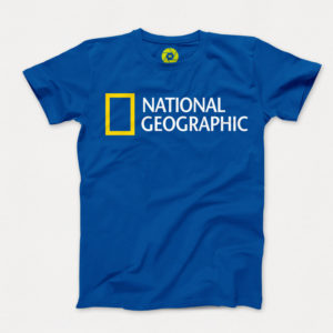 تیشرت National Geographic آبی مدل TJ117 سایز L