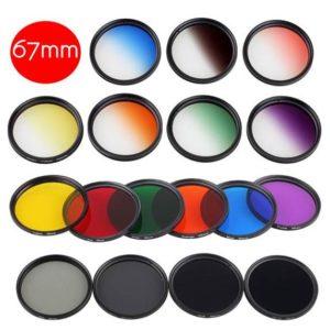 فیلترهای دوربین عکاسی در رنگهای مختلف