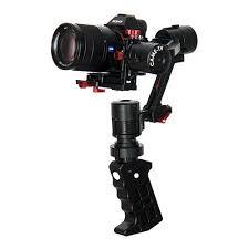 لرزش گیر دوربین گیمبال به همراه دوربین نصب شده روی آن