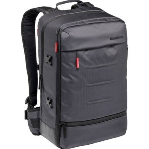 کیف دوربین مانفروتو طرح کوله پشتی صاف رنگ مشکی