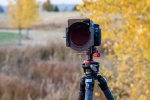 فیلتر عکاسی نیسی نصب شده بر روی دوربین