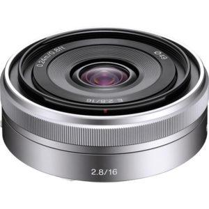 لنز سونی (Sony E 16mm f/2.8 Lens (Silver