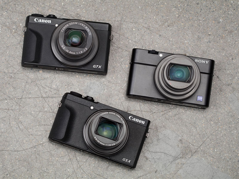 مقایسه sony RX100 VII ، Canon G5 X II و Canon G7 X III