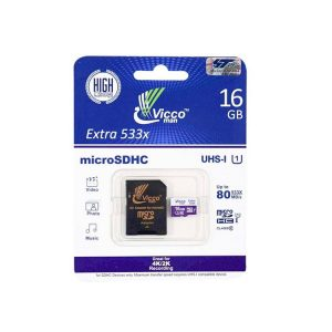 کارت حافظه ویکومن Vicco Man Micro SD 533X 16GB Without Adapter
