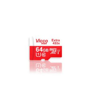 کارت حافظه ویکومن Vicco Man Micro SD 433X 64GB همراه آداپتور