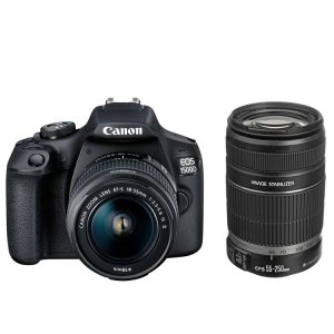 دوربین عکاسی کانن Canon EOS 1500D Kit EF-S 18-55 IS II and EF-S 55-250mm f/4-5.6 IS II
