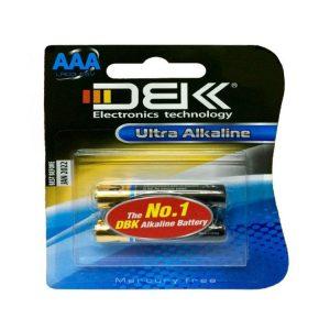 باتری نیم قلمی دی بی کی دو عددی LR03 ultra Alkaline