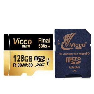 کارت حافظه ویکومن Vicco Man Micro SD 600X 128GB همراه آداپتور