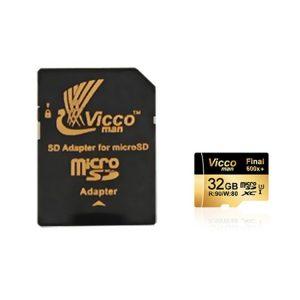 کارت حافظه ویکومن Vicco Man Micro SD 600X 32GB همراه آداپتور