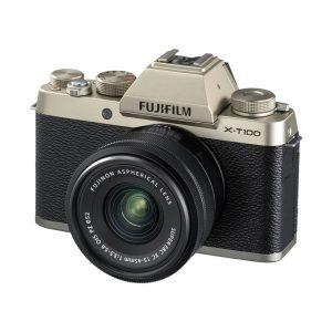 دوربین بدون آینه فوجی FUJIFILM X-T100 with15-45mm Gold