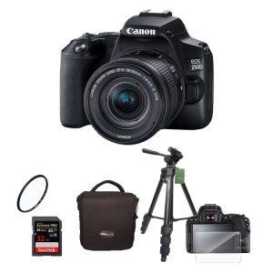 دوربین کانن Canon EOS 250D Kit 18-55mm f/4-5.6IS STM + لوازم جانبی