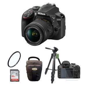 دوربین نیکون Nikon D3400 Kit 18-55mm f/3.5-5.6G VR+لوازم جانبی
