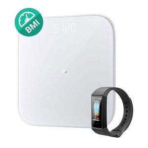 پکیج سلامت شیائومی Xiaomi Mi Smart Scale 2+ Mi Band 4C