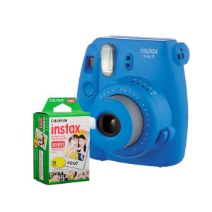 دوربین فوجی instax mini9 Cobalt Blue همراه کاغذ