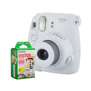 دوربین فوجی instax mini 9 White + کاغذ ۱۰ تایی