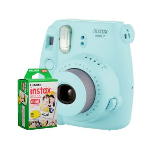 دوربین فوجی instax mini9 Ice Blue + کاغذ 10 تایی