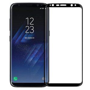 محافظ صفحه نمایش خمیده شیشه ای تمپرد گلس full Cover برای گوشی سامسونگ گلکسی S8/S9