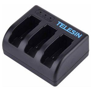 شارژر باتري 3 تايي گوپرو Telesin Hero5