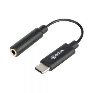 کابل تبدیل میکروفن بویا BOYA BY-K4 3.5mm to Type c Cable