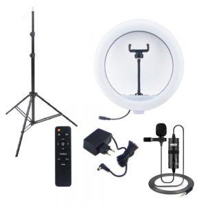 کیت پیشنهادی بلاگری 6: رینگ لایت YQ-360A RING LIGHT همراه سه پایه + میکروفن BY-M1