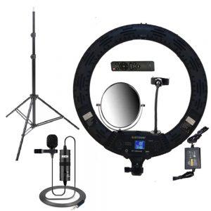کیت پیشنهادی بلاگری 6: رینگ لایت YQ-360A RING LIGHT + سه پایه + میکروفن BY-M1
