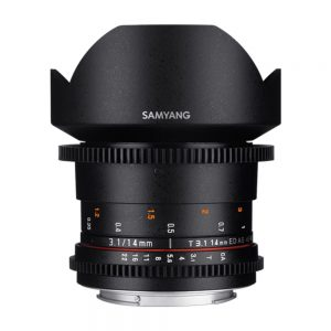 لنز سینمایی سامیانگ Samyang 14mm T3.1 VDSLR ED AS IF UMC II Canon EF