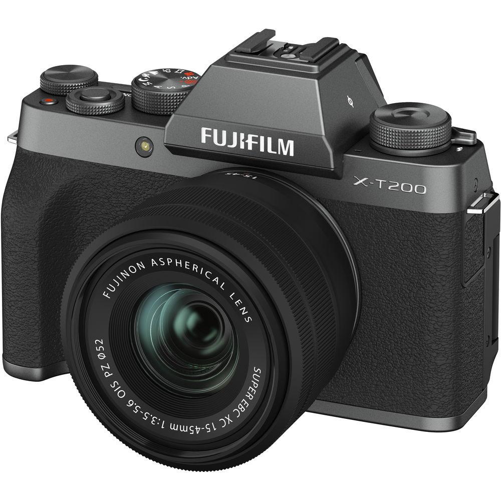 دوربین بدون آینه فوجی FUJIFILM X-T200 + لنز 15-45 میلیمتر