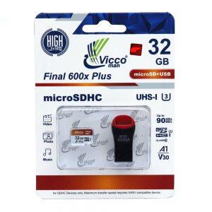 کارت حافظه ویکومن Micro SD 600X 32GB final plus همراه آداپتور USB