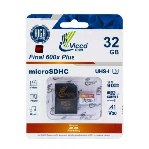 کارت حافظه ویکومن Micro SD 600X 32GB final plus همراه آداپتور