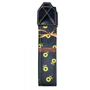 بند دوربين ترنگ طرح گل آفتاب مشکی Torang neck strap