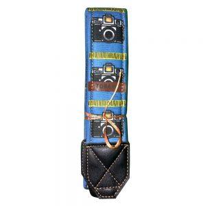 بند دوربين ترنگ طرح دوربين بزرگ آبی Torang neck strap